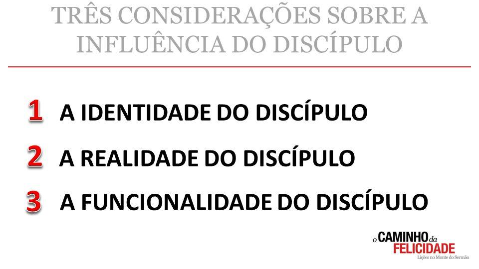 TRÊS CONSIDERAÇÕES SOBRE A INFLUÊNCIA DO DISCÍPULO