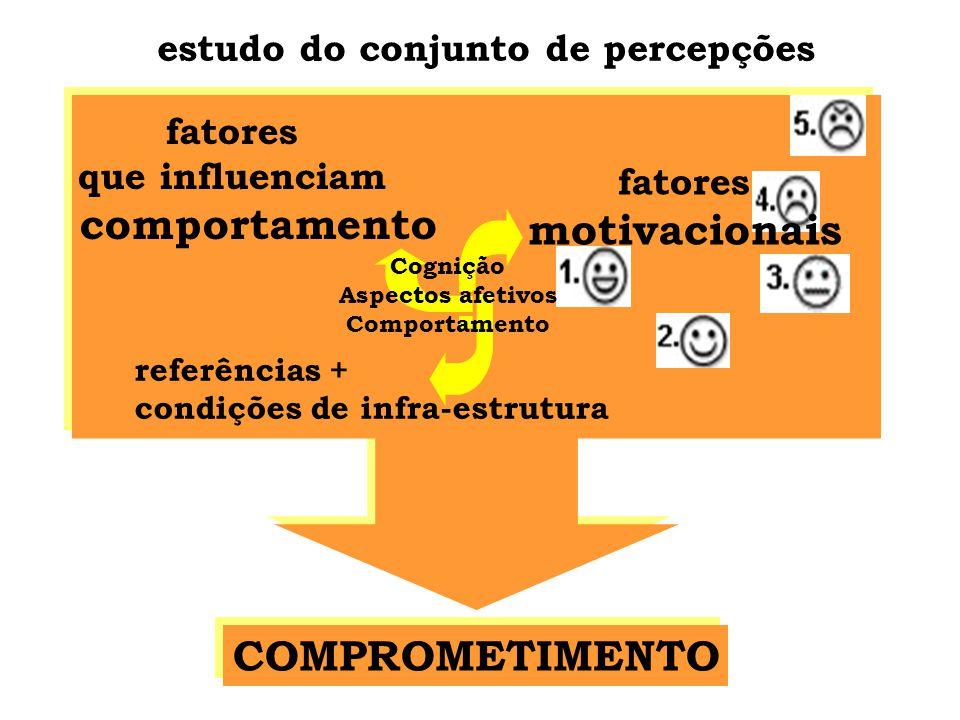 motivacionais COMPROMETIMENTO estudo do conjunto de percepções fatores