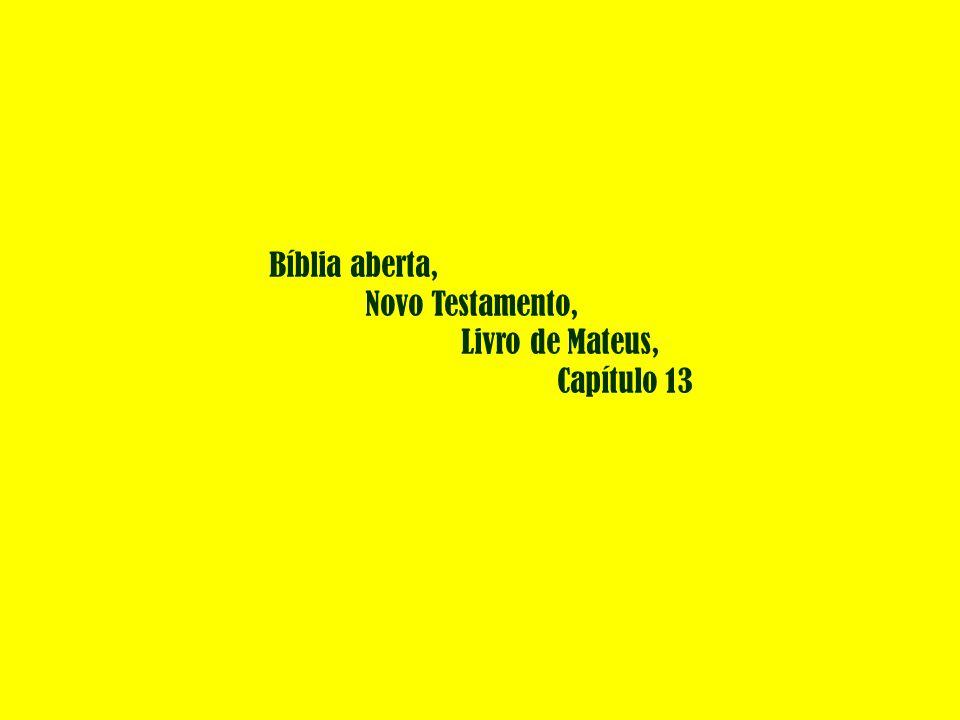 Bíblia aberta, Novo Testamento, Livro de Mateus, Capítulo 13