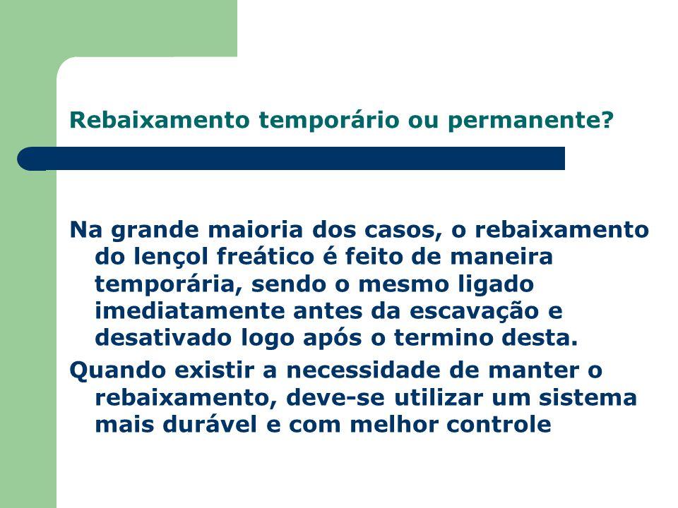 Rebaixamento temporário ou permanente