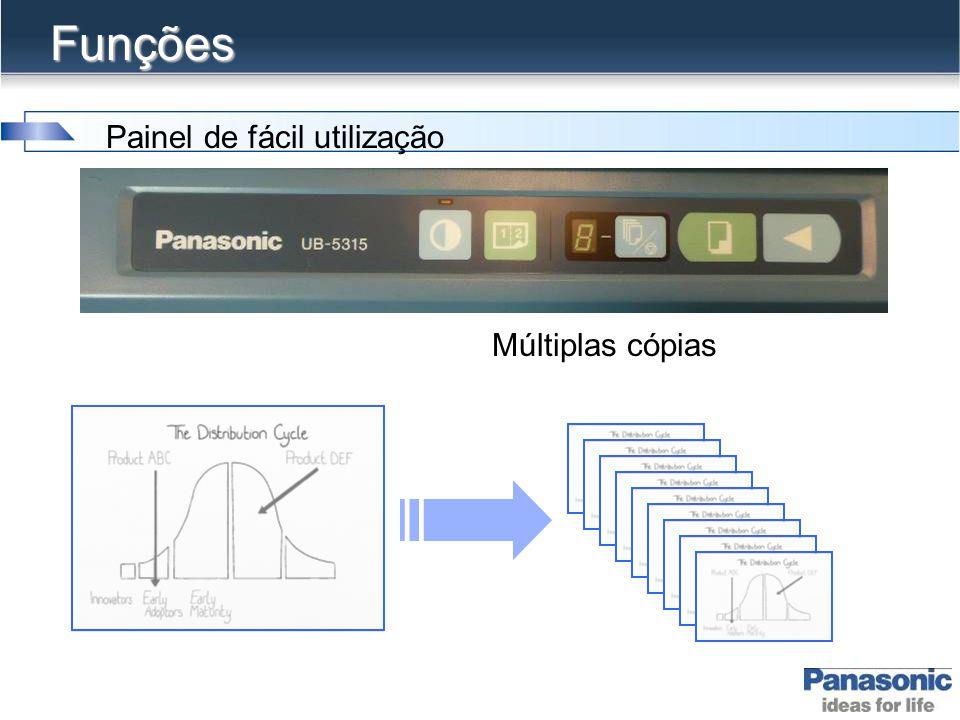 Funções Painel de fácil utilização Múltiplas cópias