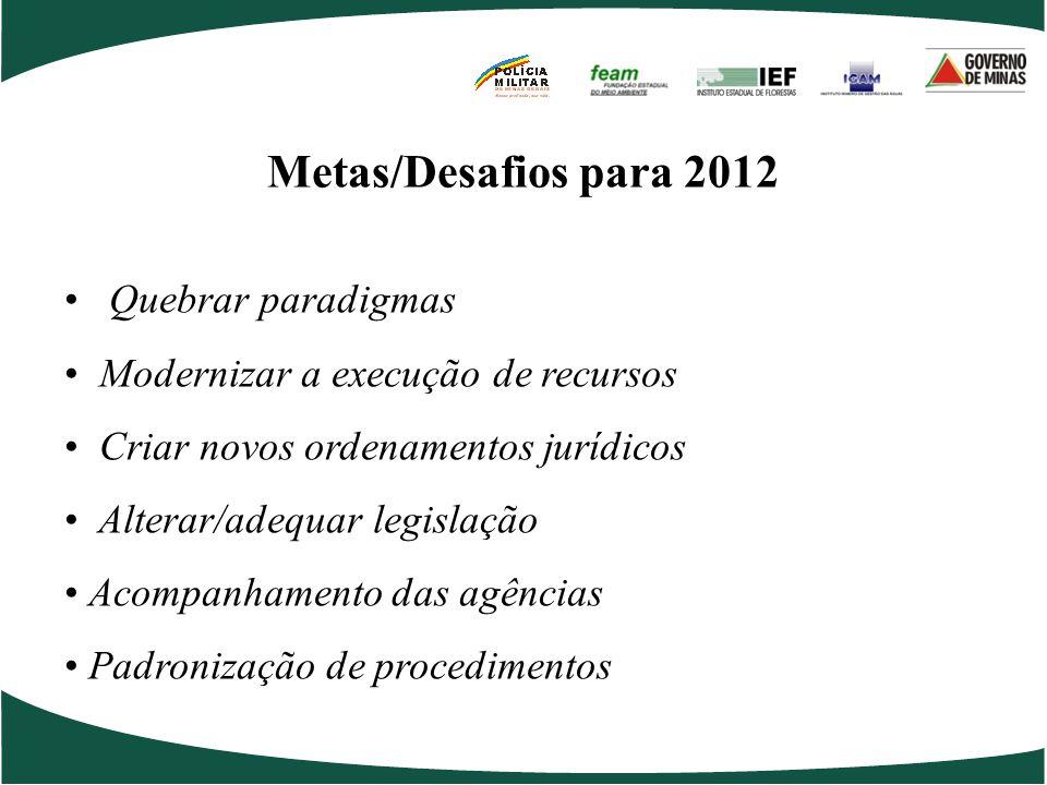 Metas/Desafios para 2012 Quebrar paradigmas