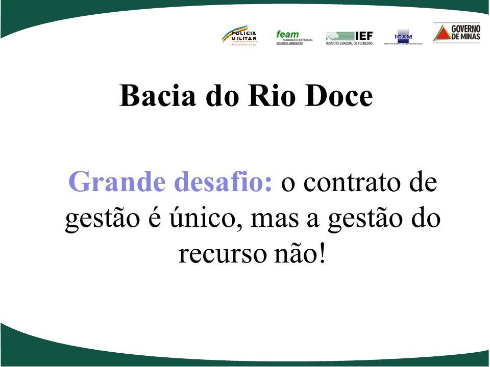 Bacia do Rio Doce Grande desafio: o contrato de gestão é único, mas a gestão do recurso não!