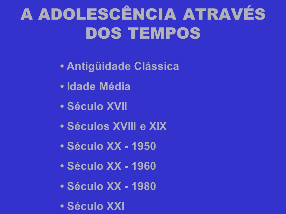 A ADOLESCÊNCIA ATRAVÉS DOS TEMPOS