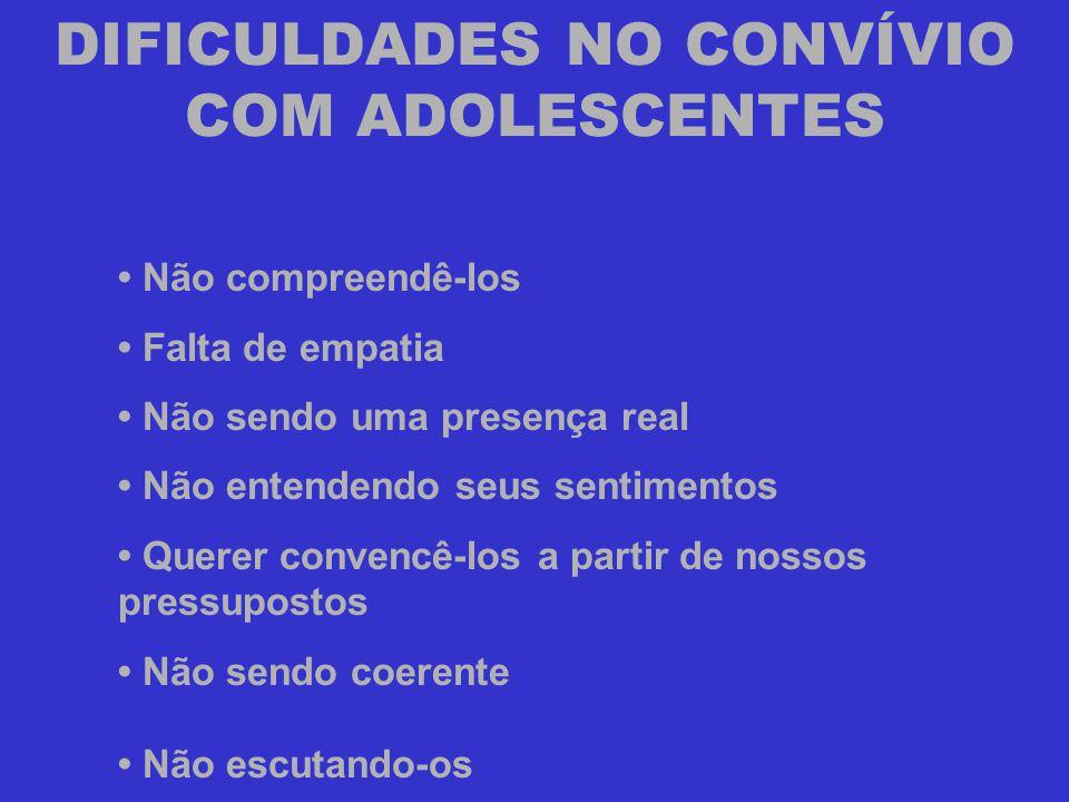 DIFICULDADES NO CONVÍVIO COM ADOLESCENTES