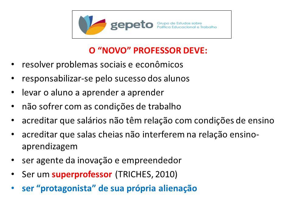 O NOVO PROFESSOR DEVE: