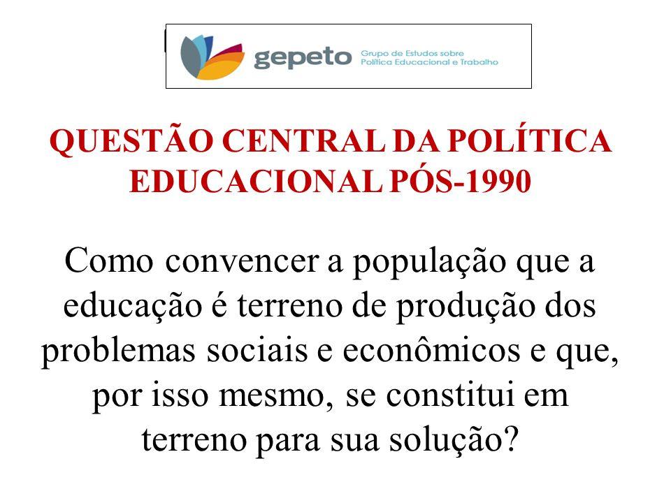 QUESTÃO CENTRAL DA POLÍTICA EDUCACIONAL PÓS-1990