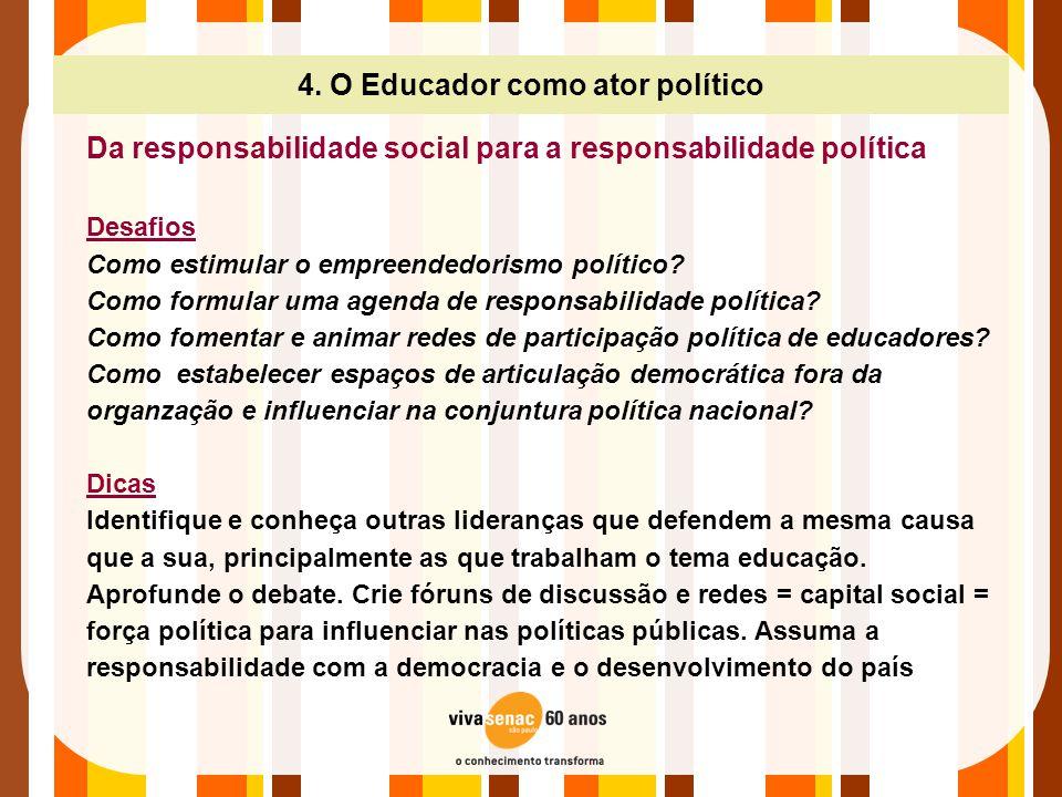 4. O Educador como ator político