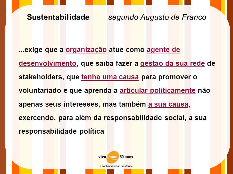 Sustentabilidade segundo Augusto de Franco