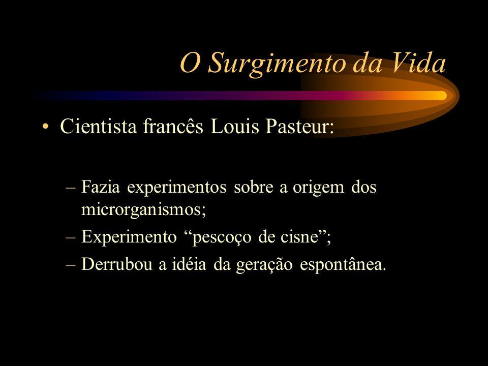 O Surgimento da Vida Cientista francês Louis Pasteur: