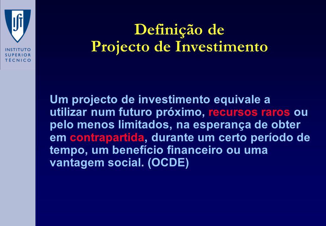 Definição de Projecto de Investimento