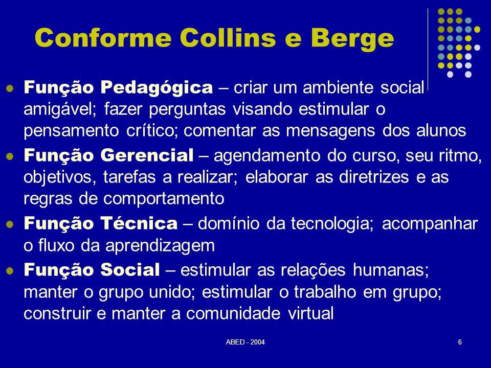Conforme Collins e Berge
