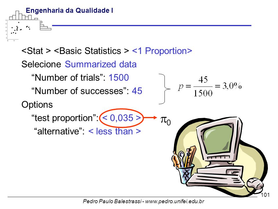 p0 <Stat > <Basic Statistics > <1 Proportion>