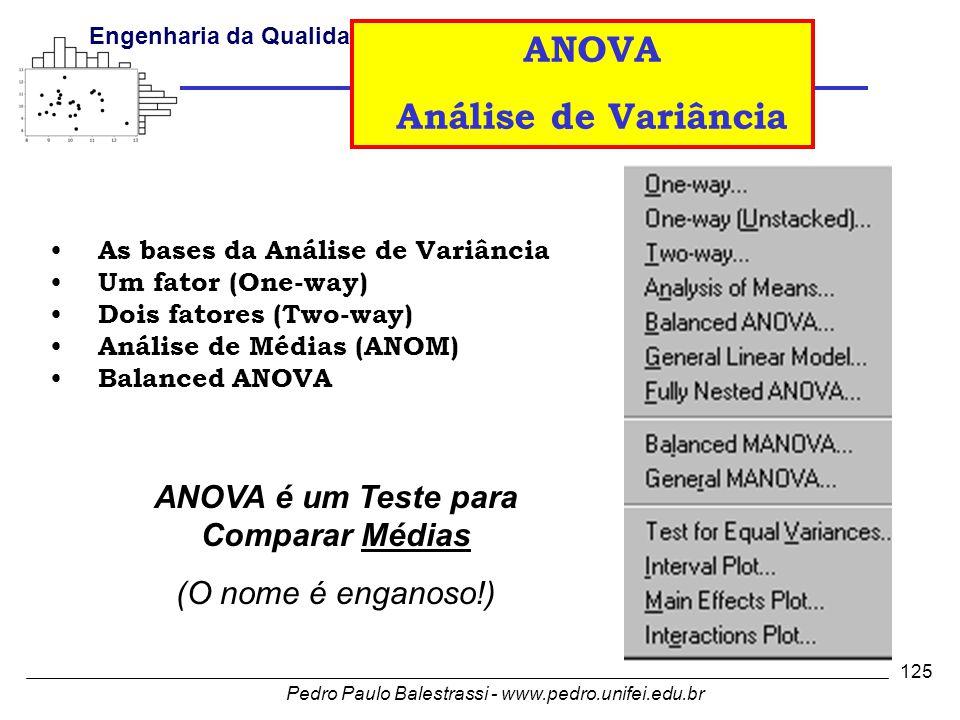 ANOVA é um Teste para Comparar Médias