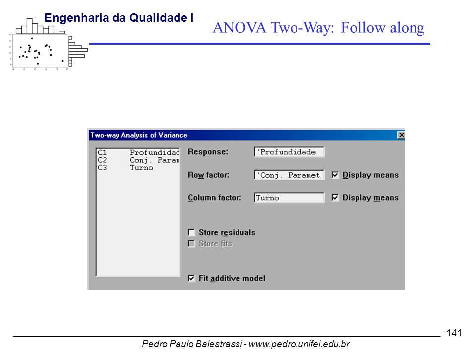 ANOVA Two-Way: Follow along