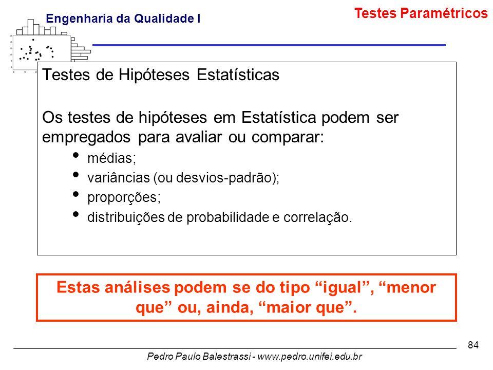 Testes de Hipóteses Estatísticas