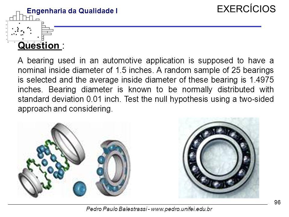 EXERCÍCIOS Question :