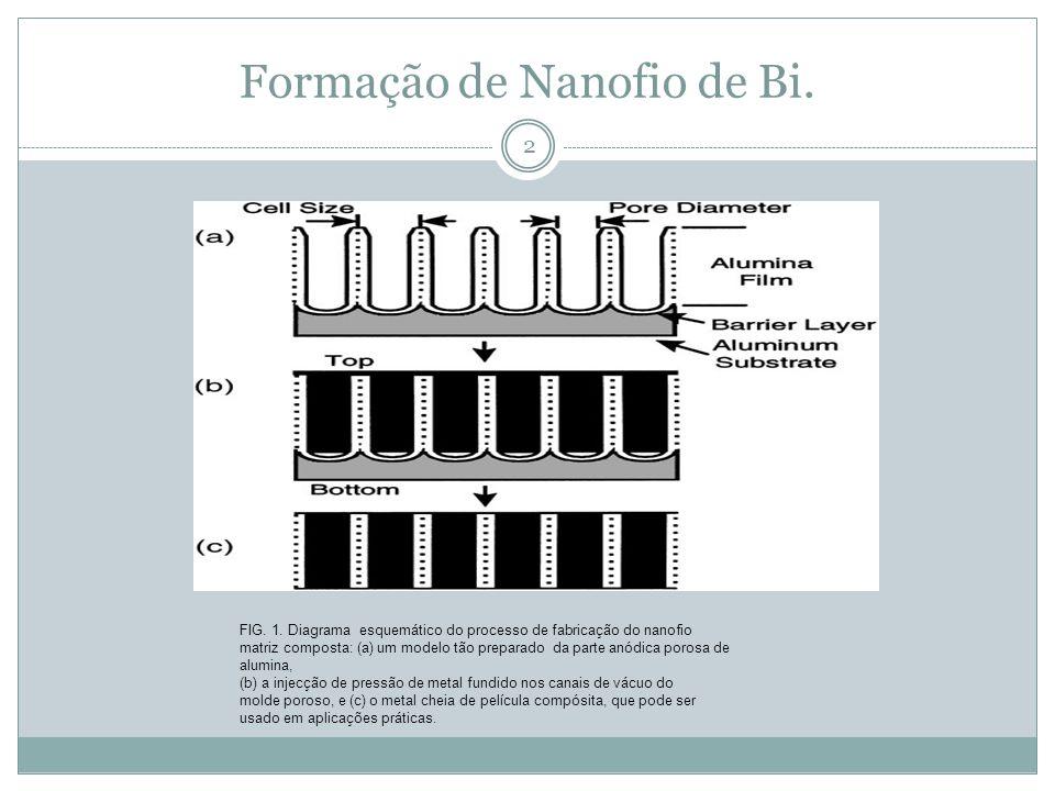 Formação de Nanofio de Bi.