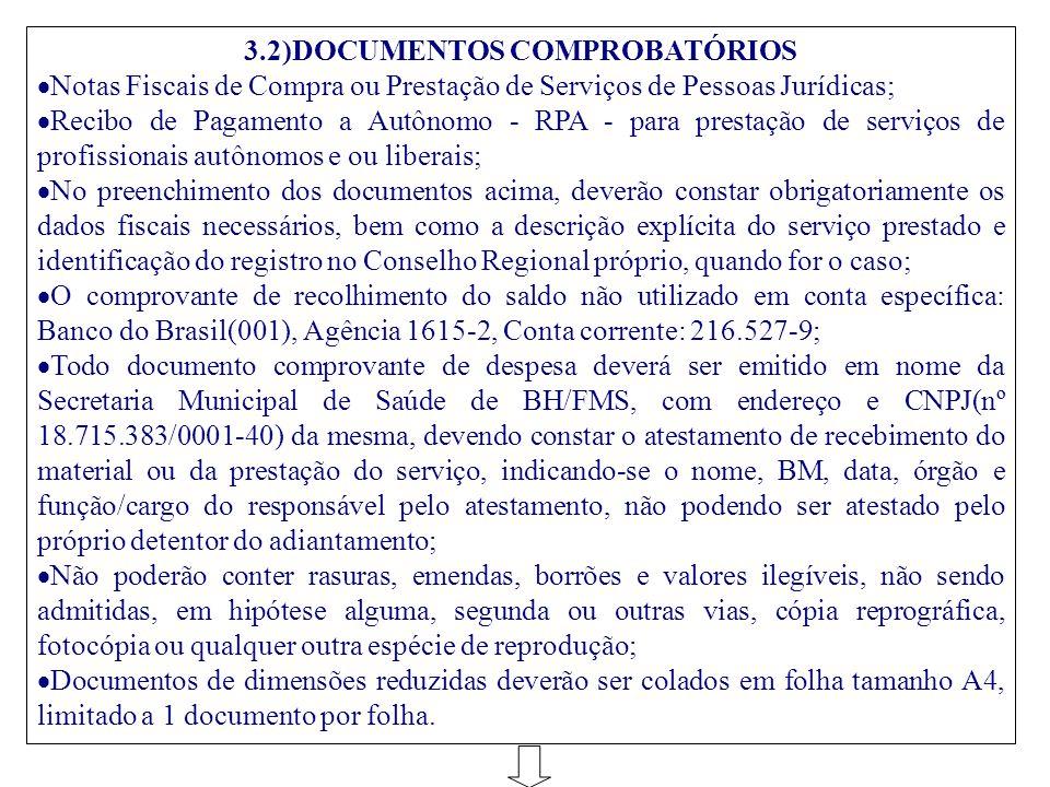 3.2)DOCUMENTOS COMPROBATÓRIOS