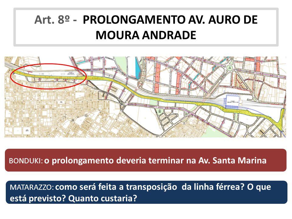 Art. 8º - PROLONGAMENTO AV. AURO DE MOURA ANDRADE