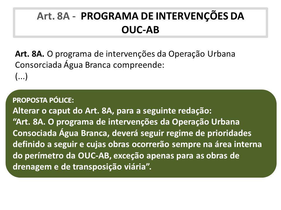 Art. 8A - PROGRAMA DE INTERVENÇÕES DA OUC-AB