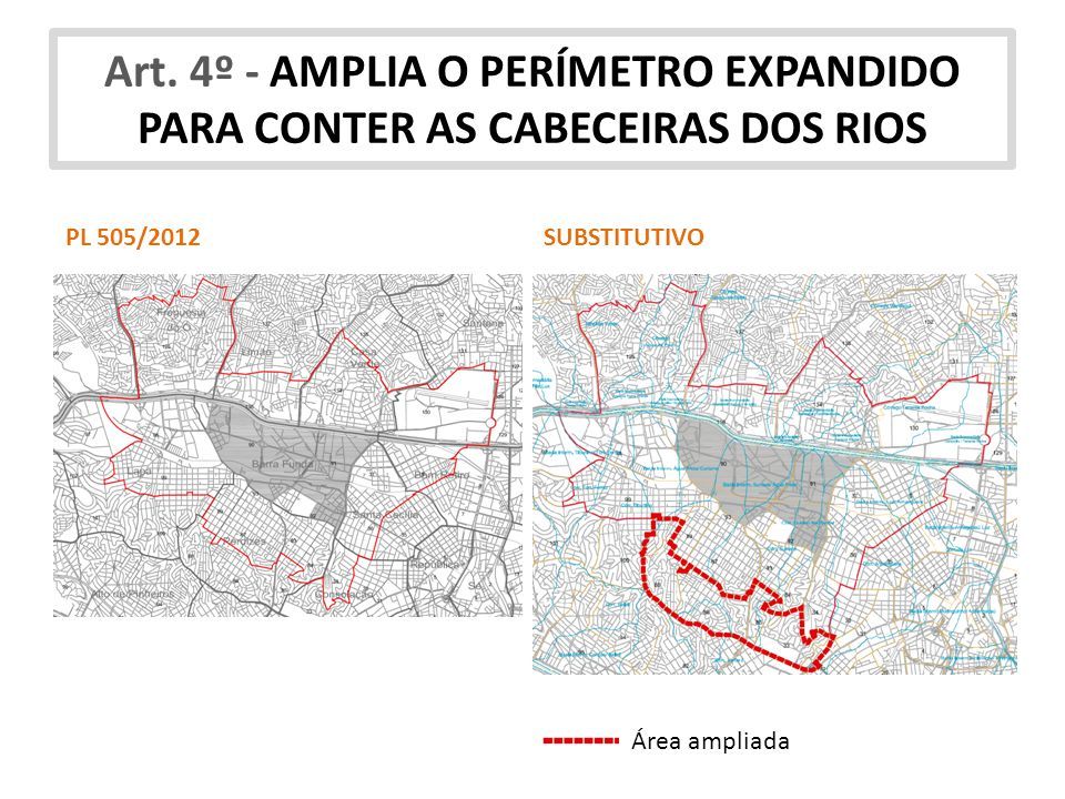 Art. 4º - AMPLIA O PERÍMETRO EXPANDIDO PARA CONTER AS CABECEIRAS DOS RIOS