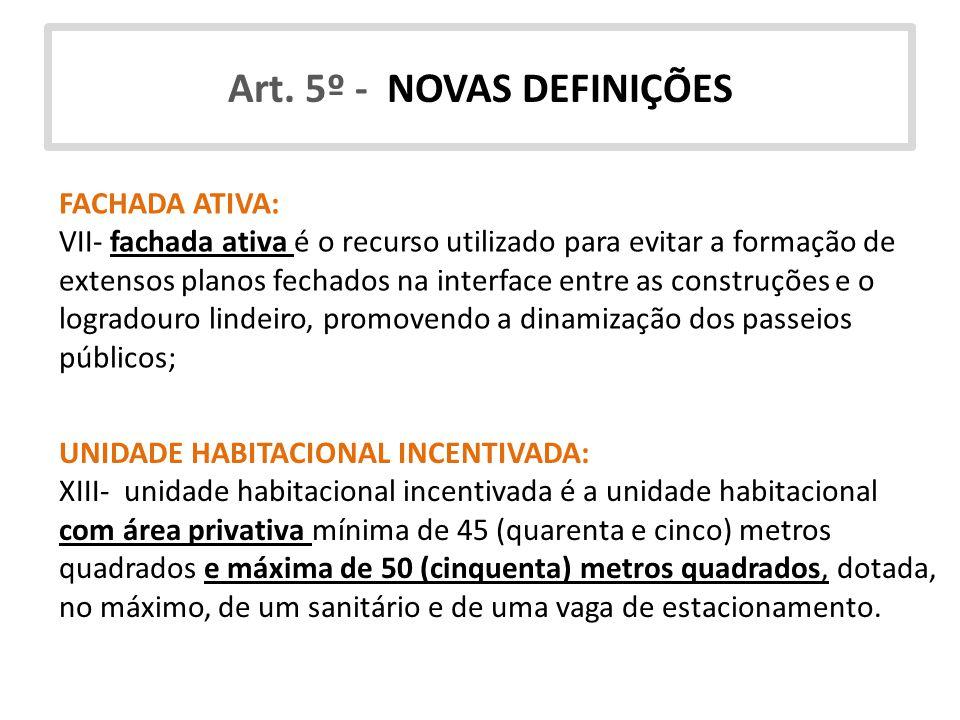 Art. 5º - NOVAS DEFINIÇÕES