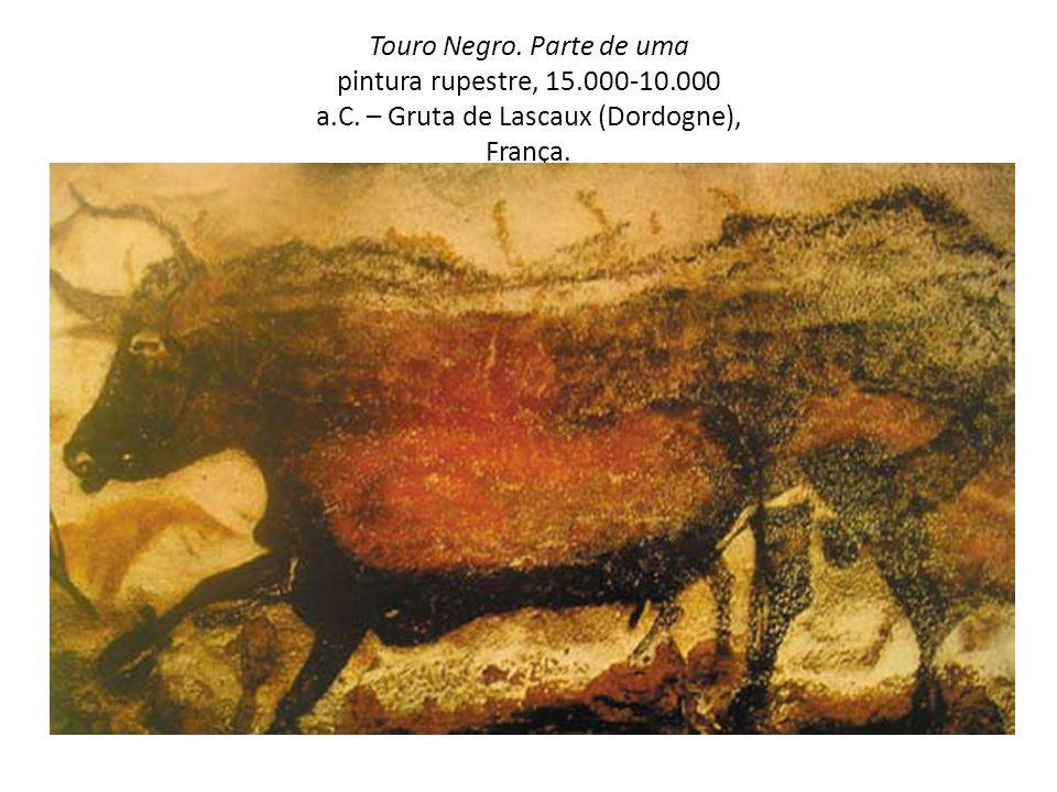 Touro Negro. Parte de uma pintura rupestre, 15. 000-10. 000 a. C