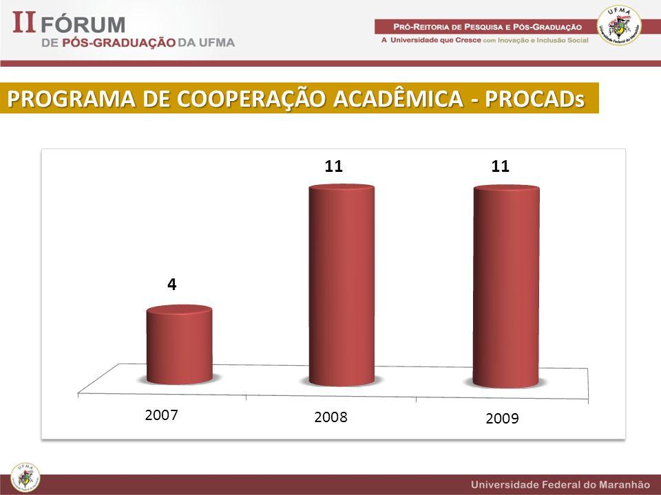 PROGRAMA DE COOPERAÇÃO ACADÊMICA - PROCADs