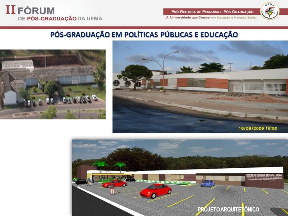PÓS-GRADUAÇÃO EM POLÍTICAS PÚBLICAS E EDUCAÇÃO PROJETO ARQUITETÔNICO