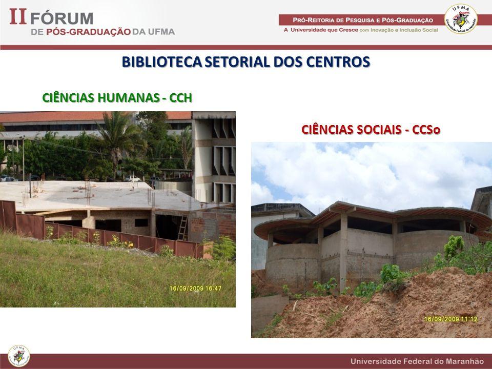 BIBLIOTECA SETORIAL DOS CENTROS CIÊNCIAS SOCIAIS - CCSo