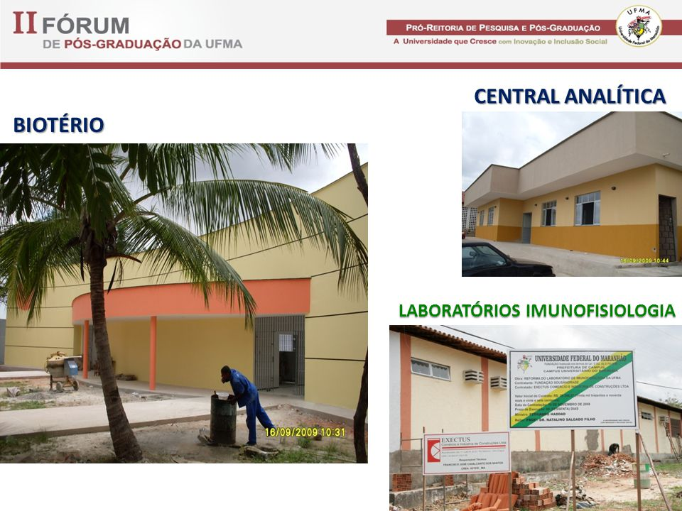CENTRAL ANALÍTICA BIOTÉRIO LABORATÓRIOS IMUNOFISIOLOGIA