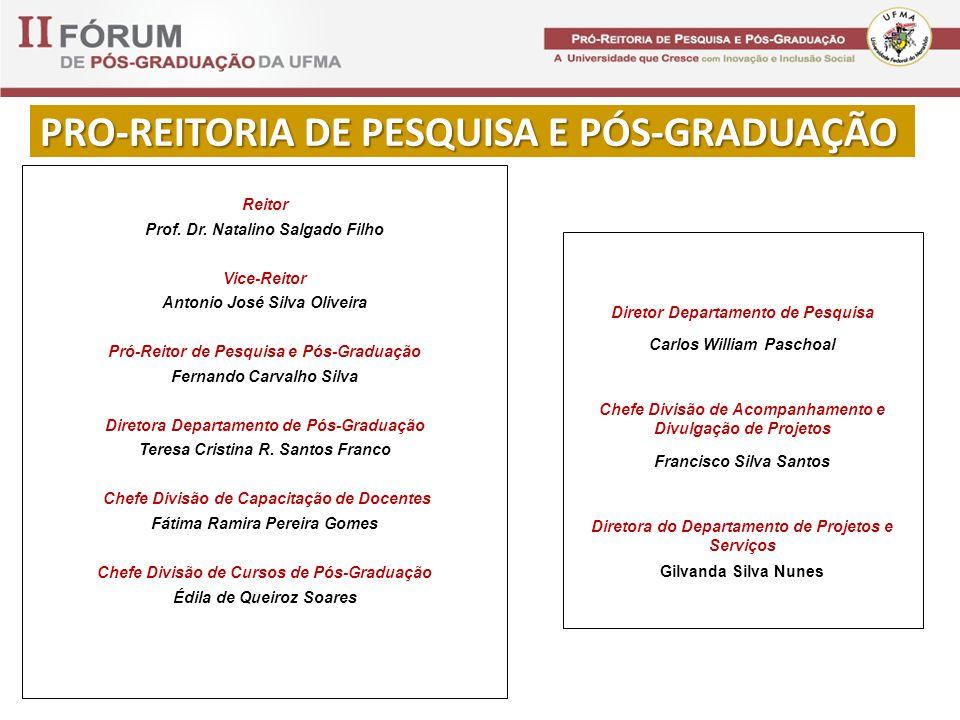 PRO-REITORIA DE PESQUISA E PÓS-GRADUAÇÃO