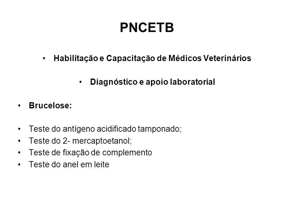 PNCETB Habilitação e Capacitação de Médicos Veterinários