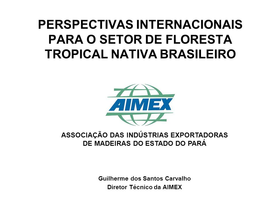 Guilherme dos Santos Carvalho Diretor Técnico da AIMEX