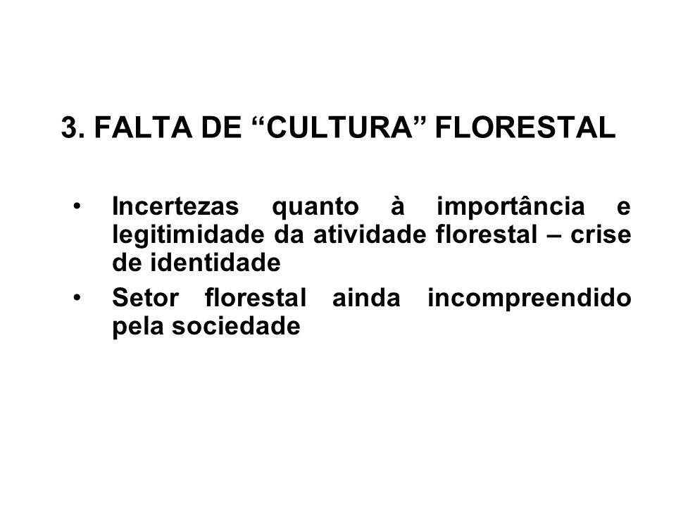 3. FALTA DE CULTURA FLORESTAL