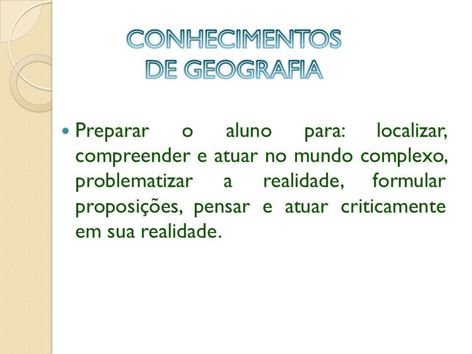 CONHECIMENTOS DE GEOGRAFIA