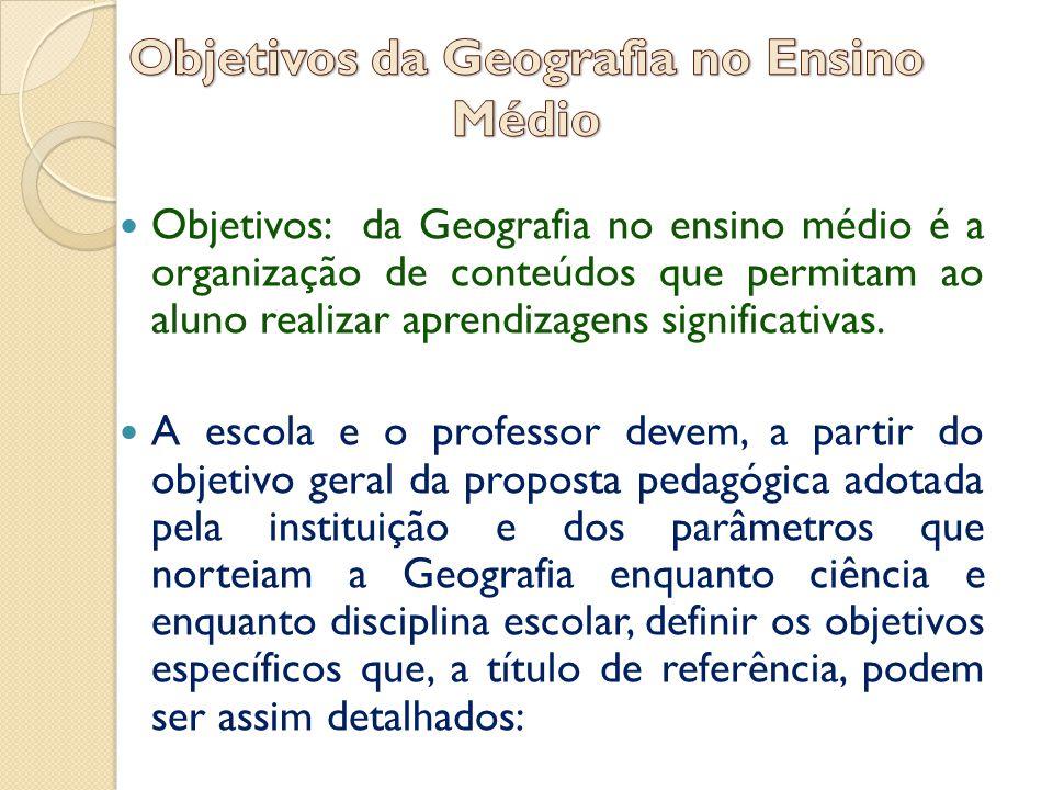 Objetivos da Geografia no Ensino Médio