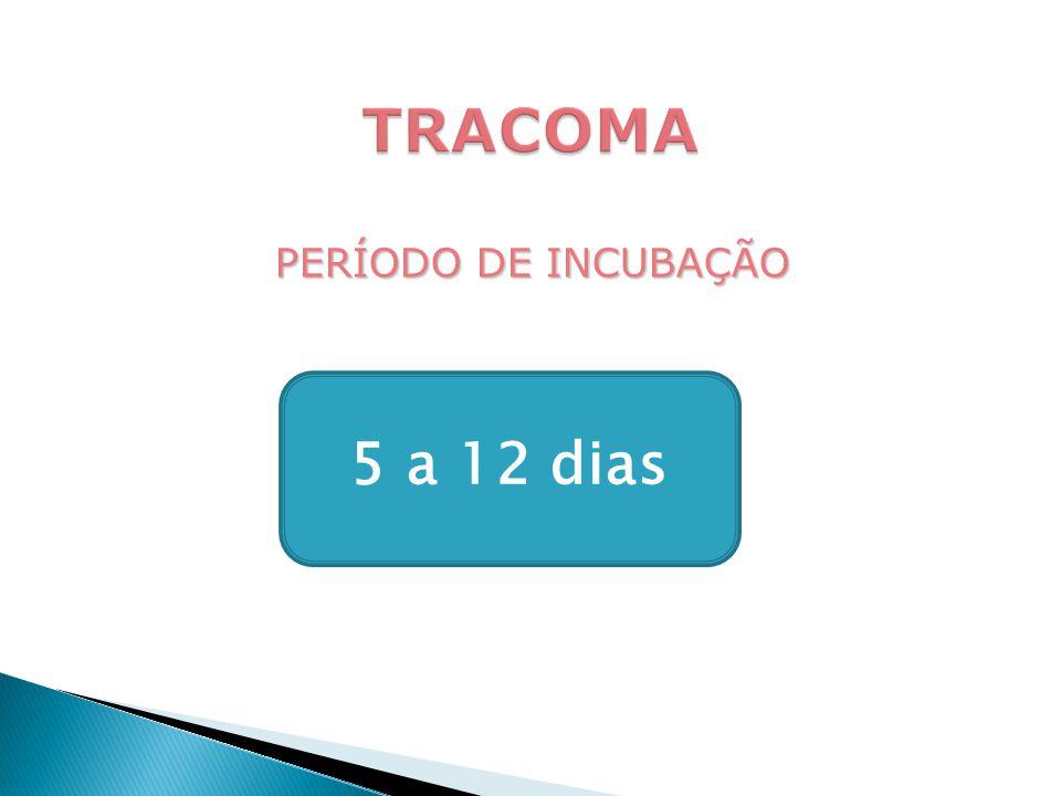 TRACOMA PERÍODO DE INCUBAÇÃO 5 a 12 dias