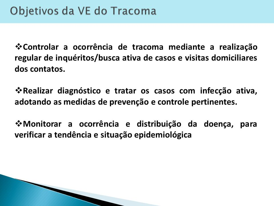 Objetivos da VE do Tracoma