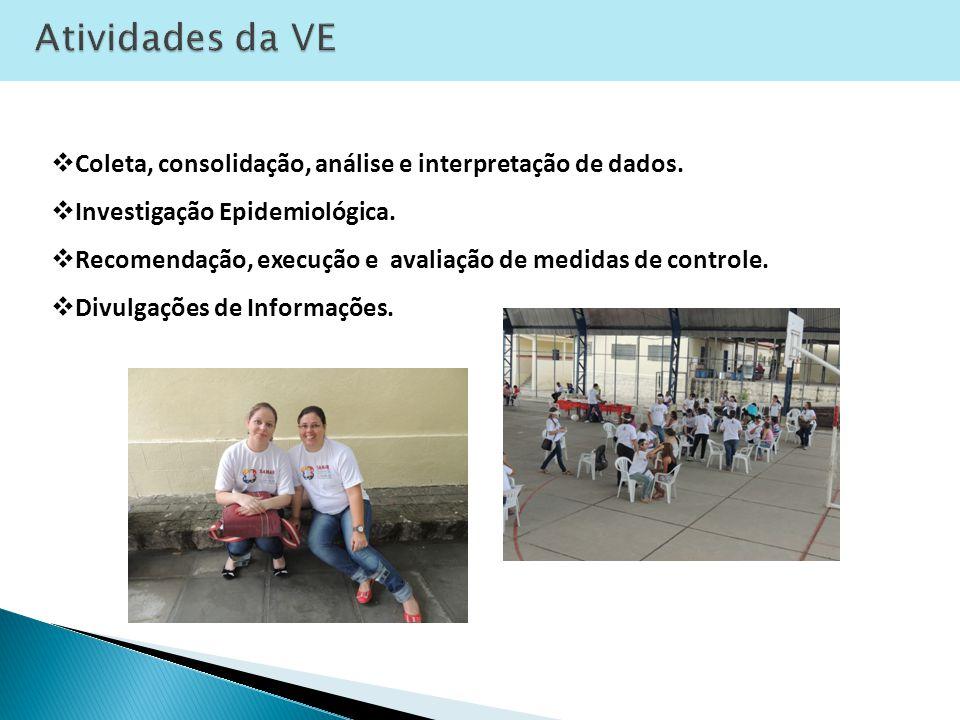 Atividades da VE Coleta, consolidação, análise e interpretação de dados. Investigação Epidemiológica.
