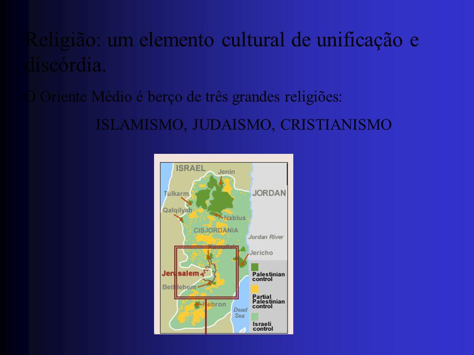 Religião: um elemento cultural de unificação e discórdia.