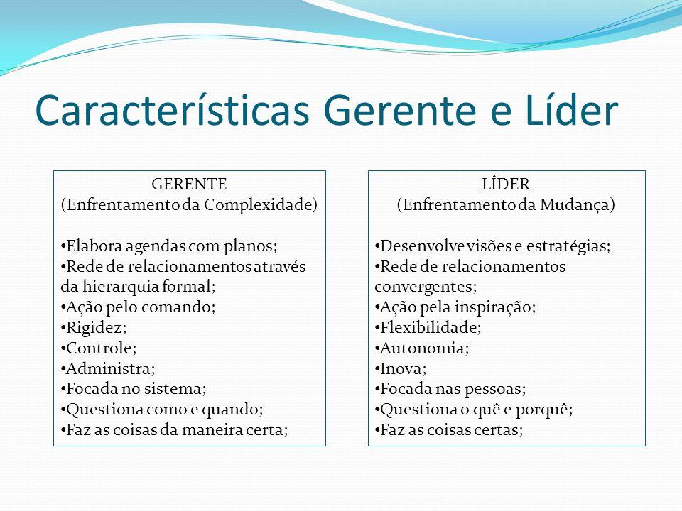 Características Gerente e Líder