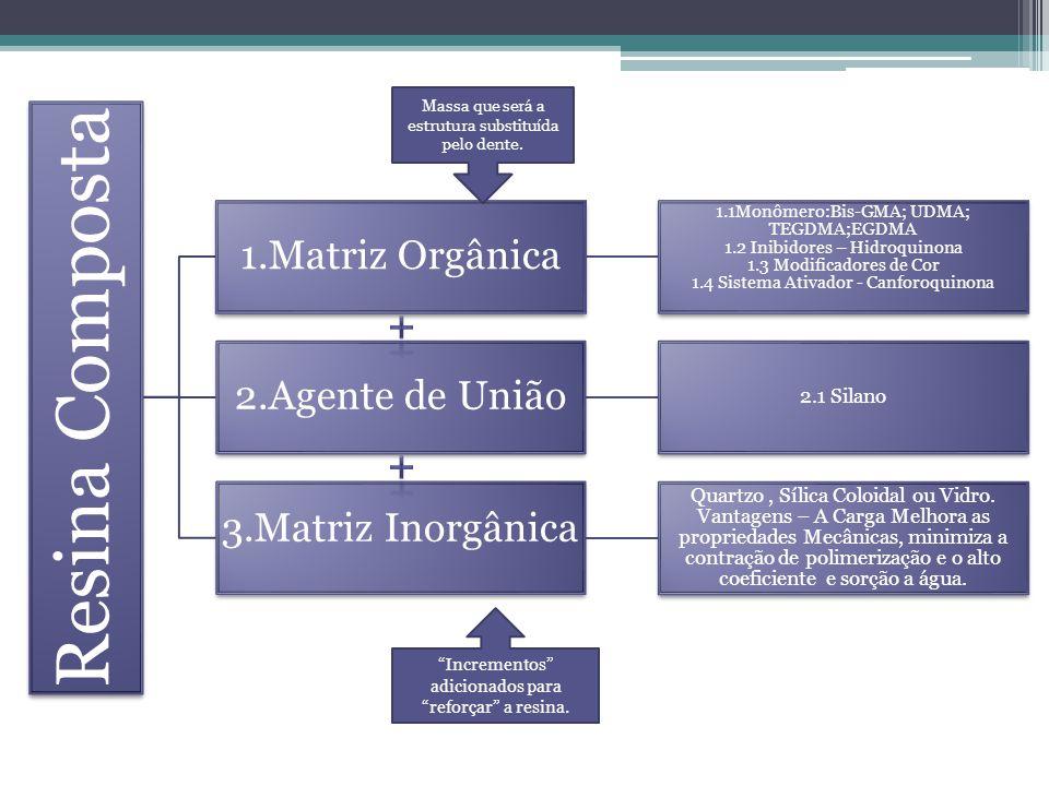 Resina Composta 1.Matriz Orgânica + 2.Agente de União +