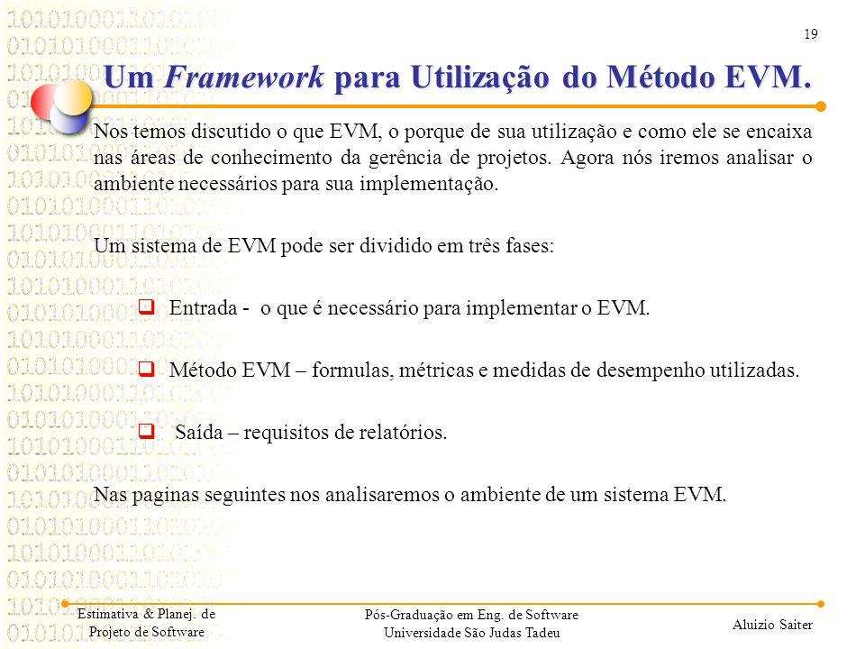 Um Framework para Utilização do Método EVM.