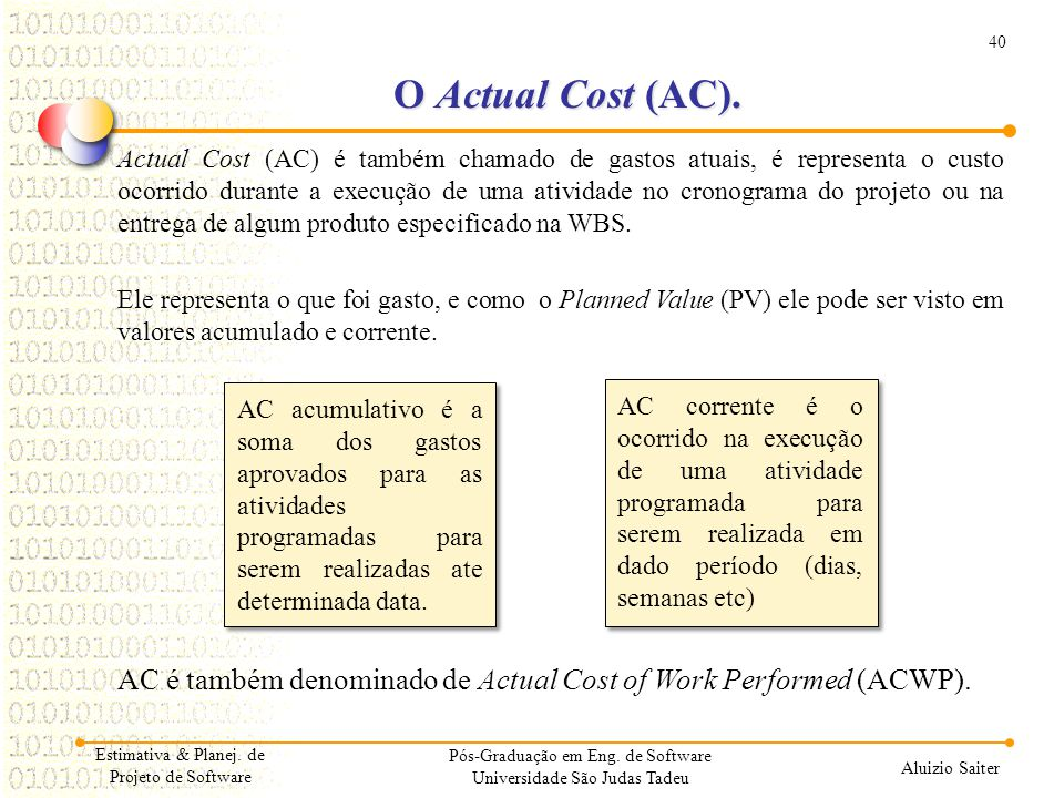 O Actual Cost (AC).