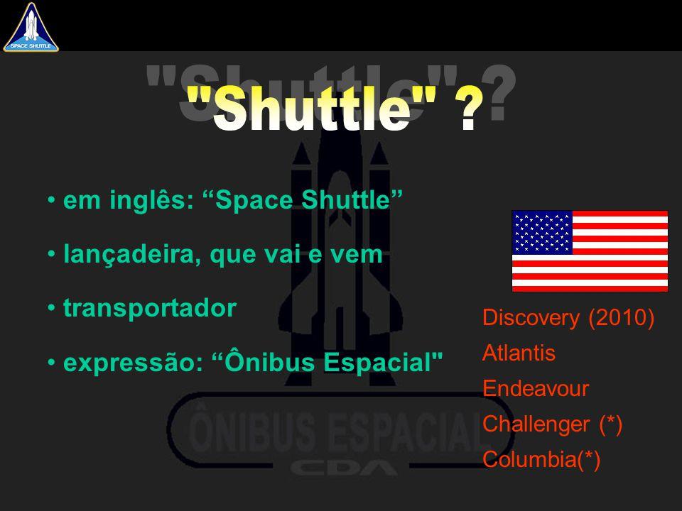 Shuttle em inglês: Space Shuttle lançadeira, que vai e vem