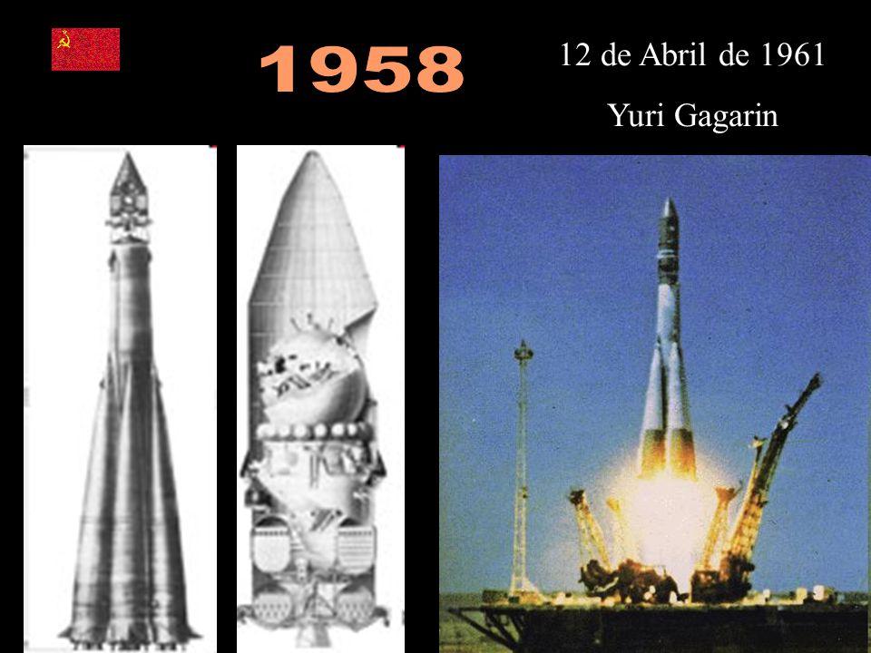 1958 12 de Abril de 1961 Yuri Gagarin