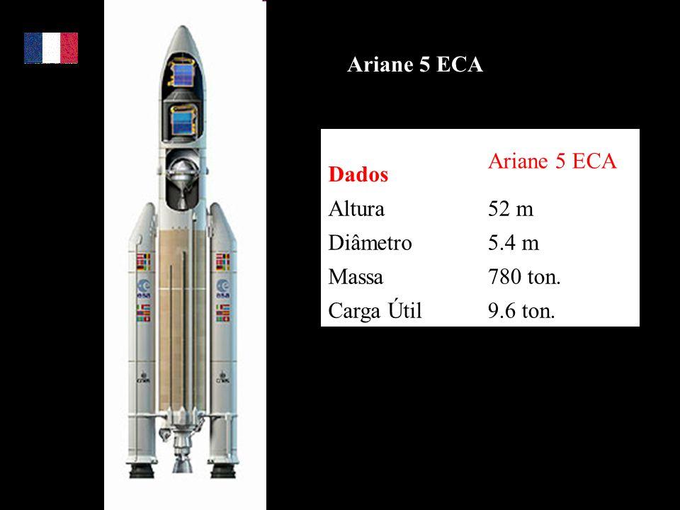 Ariane 5 ECA Dados Ariane 5 ECA Altura 52 m Diâmetro 5.4 m Massa