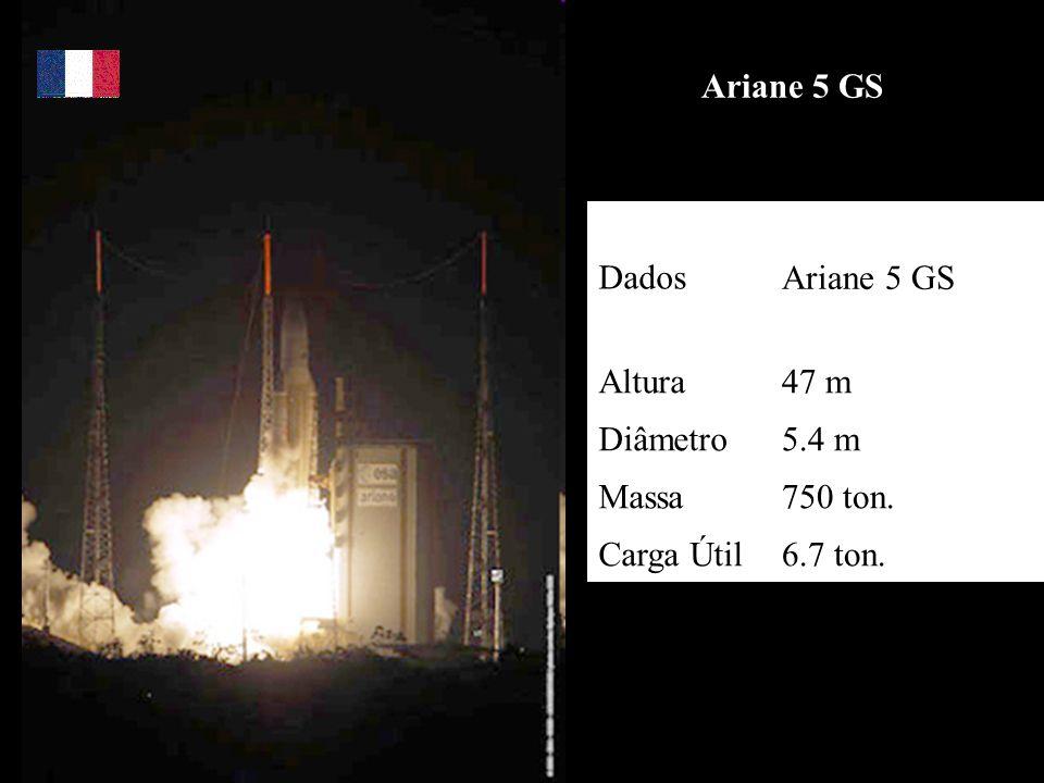 Ariane 5 GS Dados Ariane 5 GS Altura 47 m Diâmetro 5.4 m Massa